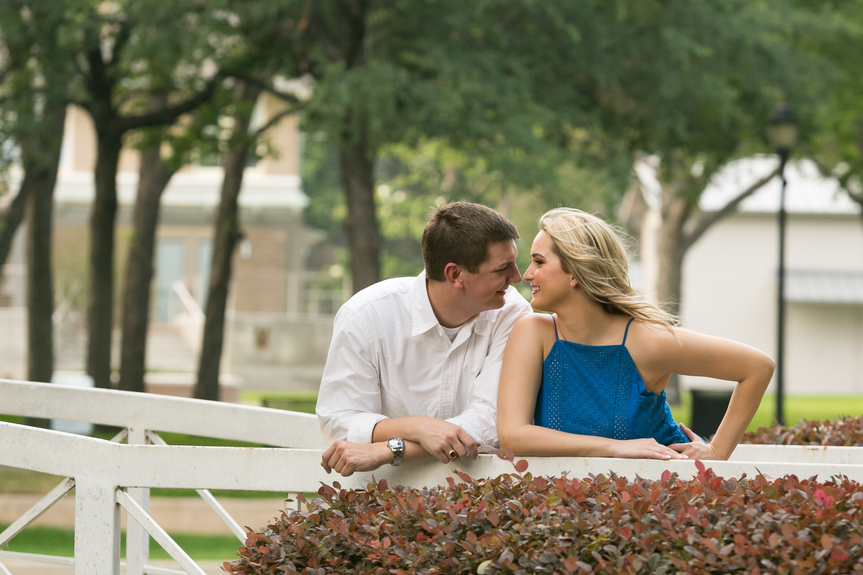 Haggard Park Engagement in Plano Texas